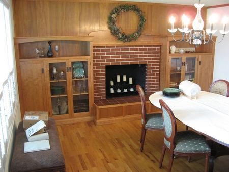 1970's suburban conversion to Bungelow style in Cherry   Living Room