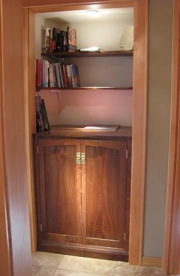 Black Walnut Display Cabinet   Home Office